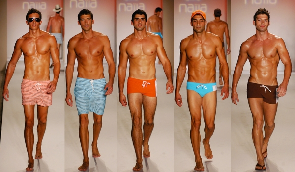 Moda Praia Para Homens  Sunga Branca