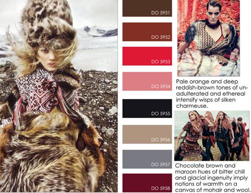 Tendência de Cores para o Inverno 2013 Tendências de Cores para o Inverno 2013