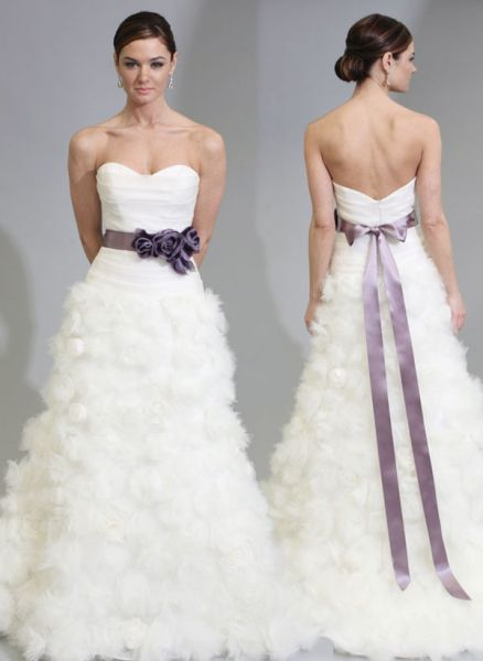 Wedding Dresses With Color Sashes 117