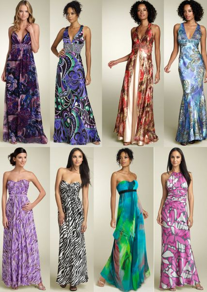 Vestidos Estampados 2013, Modelos Curtos e Longos