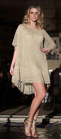 Modelos de Vestidos de Praia de Crochê 2 Modelos de Vestidos de Praia de Crochê