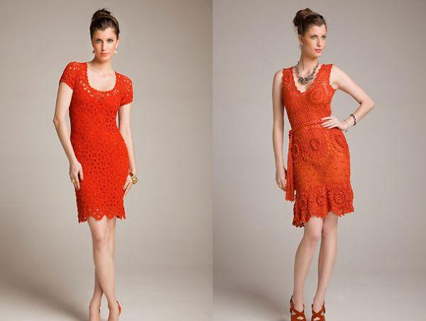 Modelos de Vestidos de Praia de Crochê 3 Modelos de Vestidos de Praia de Crochê