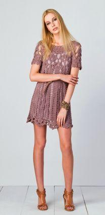 Modelos de Vestidos de Praia de Crochê 4 Modelos de Vestidos de Praia de Crochê