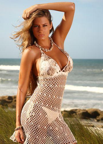 Modelos de Vestidos de Praia de Crochê 66 Modelos de Vestidos de Praia de Crochê