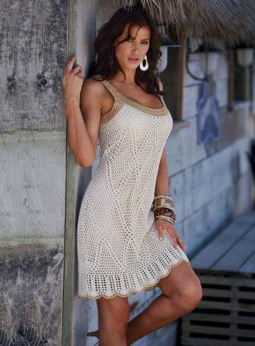 Modelos de Vestidos de Praia de Crochê 99 Modelos de Vestidos de Praia de Crochê