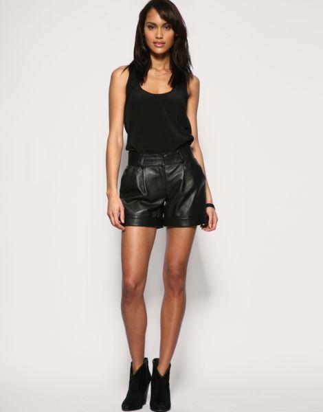 Fotos e Modelos de Shorts de Couro 22 Fotos e Modelos de Shorts de Couro