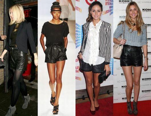 Fotos e Modelos de Shorts de Couro 33 Fotos e Modelos de Shorts de Couro