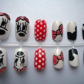 Unhas Decoradas Minnie Po A Po