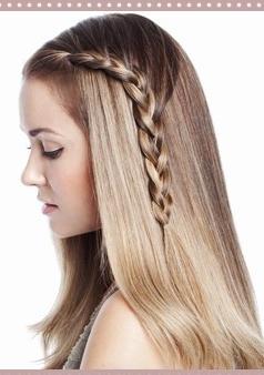 penteado Penteados rápidos para cabelos longos: fotos, como fazer