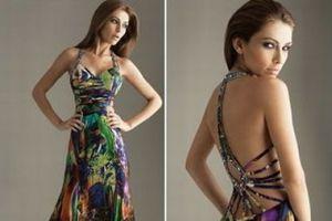 Modelos de Vestidos de Festa Estampados