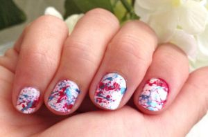 Unhas Decoradas Paint Splatter