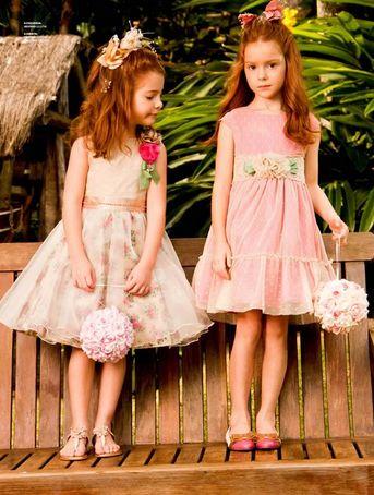 Vestidos de Festa para Crianças 3 Modelos de Vestidos de Festa para Crianças