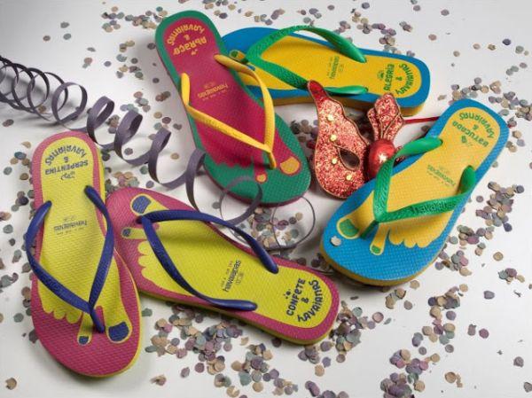 A nova coleção com a linha Havaianas carnaval 2013 deixará sua folia ainda mais confortável e interessante (Foto: Divulgação)