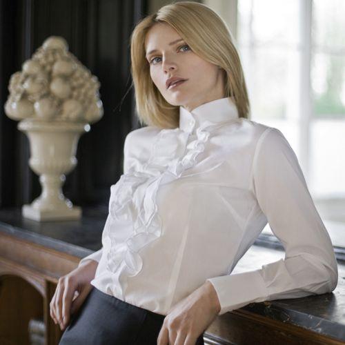 88e8c308e Tendência de Moda de Camisas Femininas com Babado 8 - Dicas de Moda