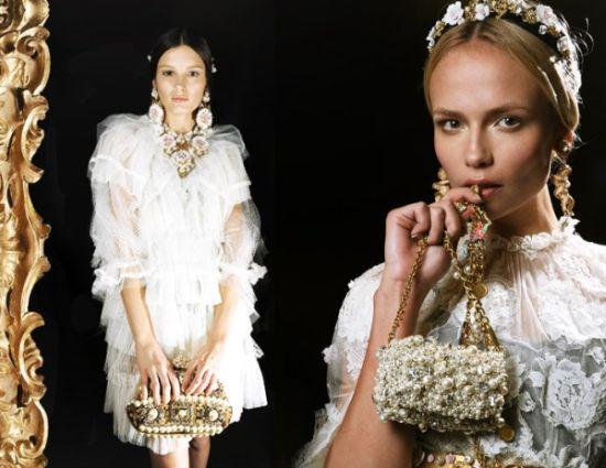 Os modelos de vestidos de noiva Dolce & Gabbana 2013 estão magníficos, aliás, como tudo o que a dupla faz (Foto: Divulgação)