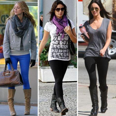 Usar calça legging com bota é ótima opção para os looks invernais desta temporada fria 2013 (Foto: Divulgação)
