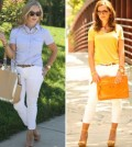 O jeans branco no verão 2014 é peça-curinga e pode ser usado em várias ocasiões e combinado a diversos estilos (Foto: Divulgação)