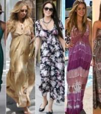 O vestido longo de dia deve ser escolhido com cuidado, para não somente valorizar a silhueta como também para ser adequado à luz solar (Foto: Divulgação)