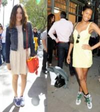 A tendência de vestidos com tênis está mais liberal nesta temporada e permite as que deixaram a adolescência também a usem (Foto: Divulgação)