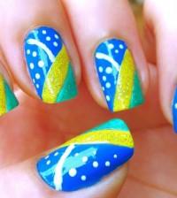 Opções de unhas decoradas para Copa 2014 não faltam, para você torcer com muito estilo para a nossa seleção (Foto: Divulgação)