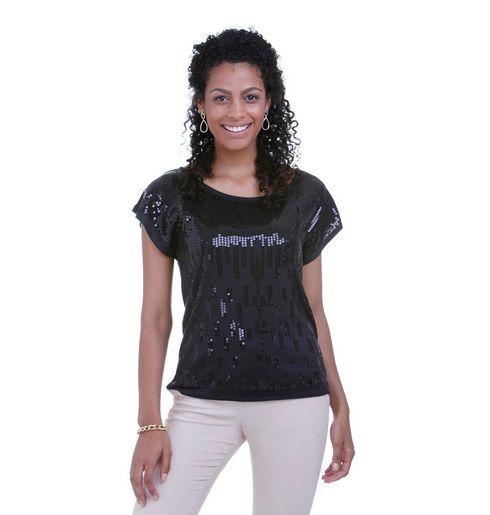 Para usar blusas brilhantes no dia a dia basta saber equilibrar o look (Foto: lojasrenner.com.br) 49,90