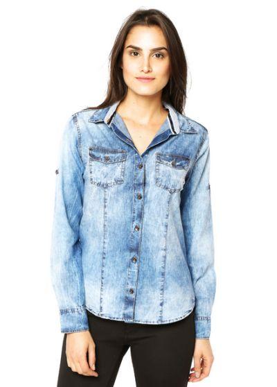 Como Usar Moda de Camisas Jeans     01