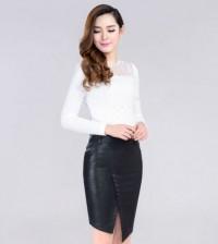 Tendência de moda das saias com botão na frente é forte e todas podem aderir (Foto: pt.aliexpress.com) 76,61