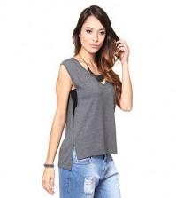 Invista na blusa comprida atrás e curta na frente para diferenciar os seus looks de verão (Foto: passarela.com.br) 39,99