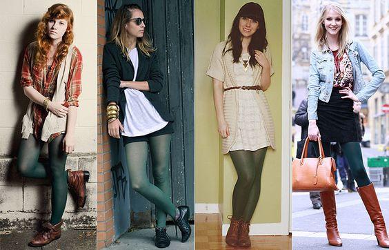 e3091f1a7de93 Moda de Meia-Calça Colorida 5 - Dicas de Moda