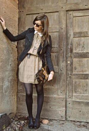 Meia-Calça com Vestido