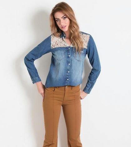Camisa Jeans no Look