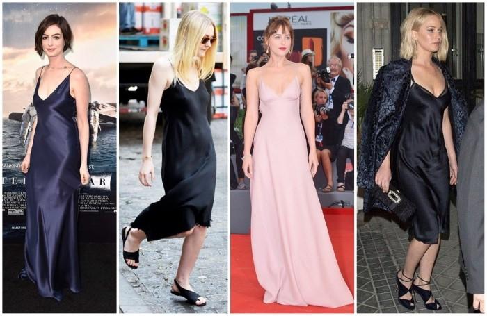 slip dress famosas