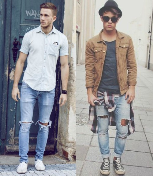 roupas estilosas para homens magros