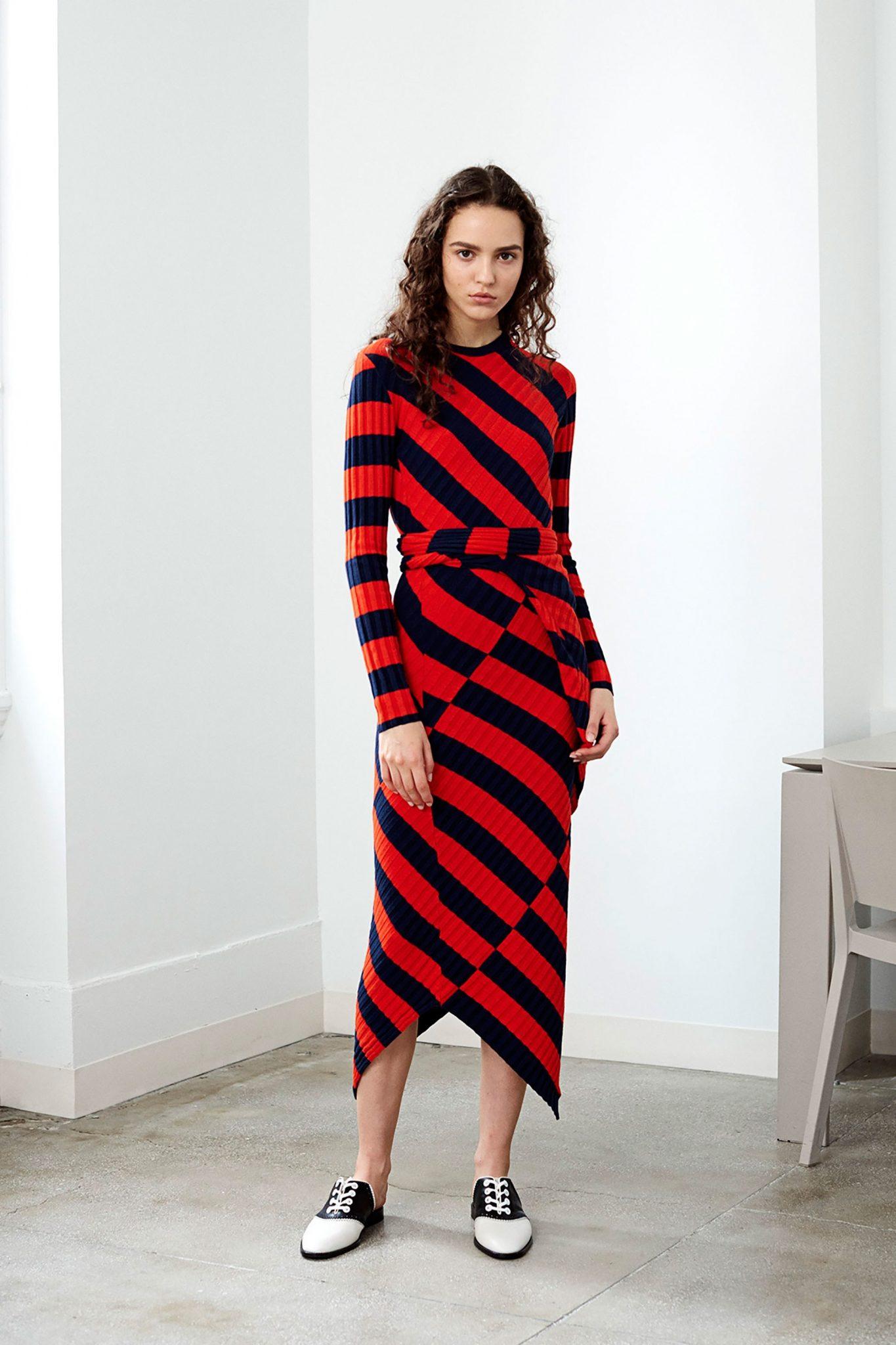 vestido de listras