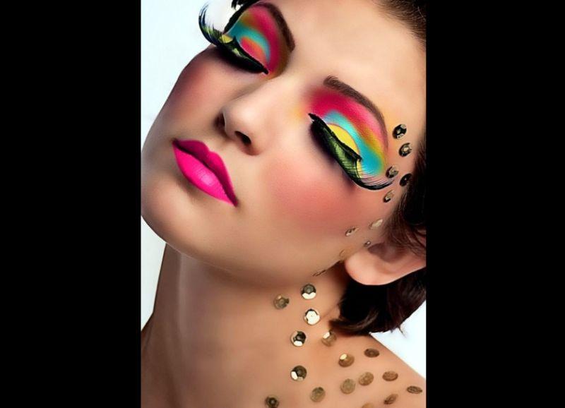 make carnaval colorida