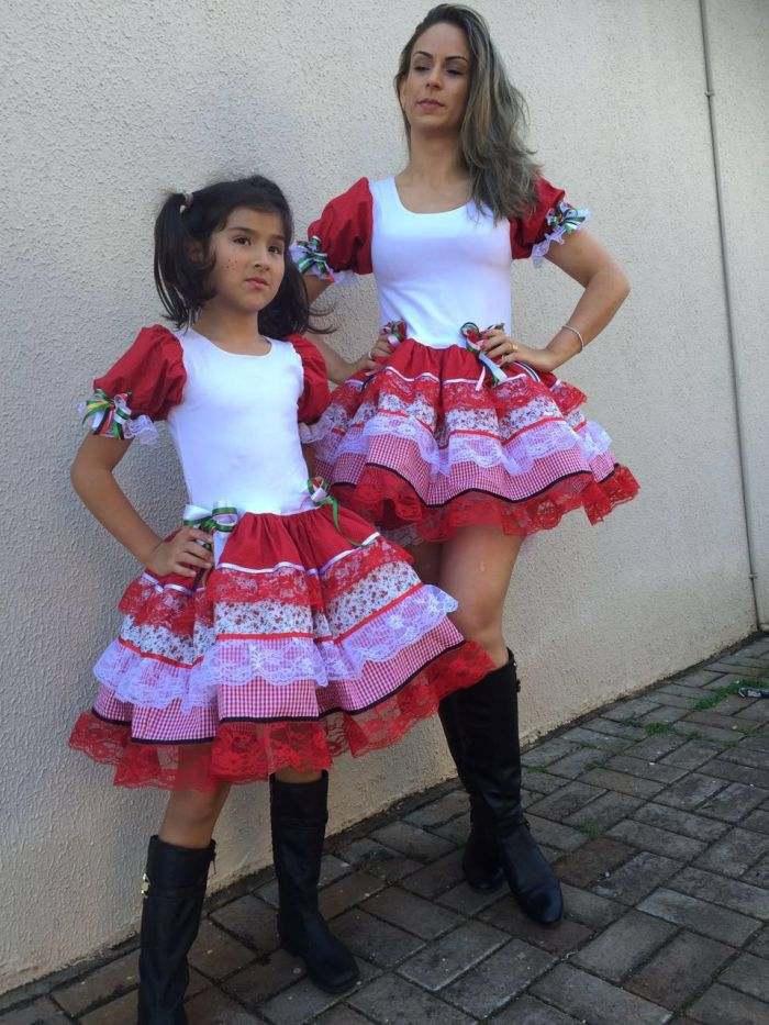 Vestido De Festa Junina 2018 Modelo Moderno Adulto E Infantil