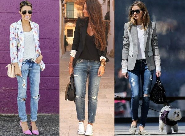 como-usar-jeans rasgado elegante