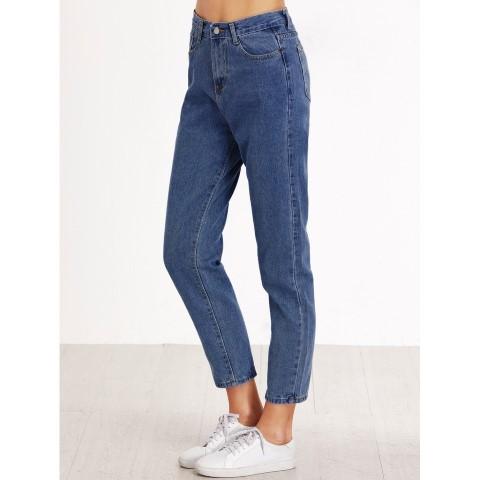 Calça mom jeans barra alta