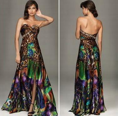 44d3e85d23 Modelos de Vestidos de Festa Estampados - Dicas de Moda