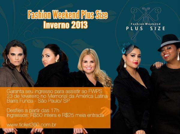 O Fashion Weekend Plus Size 2013 ocorrerá neste sábado dia 23-02-12 e trará lançamentos para o inverno 2013 (Foto: Divulgação)