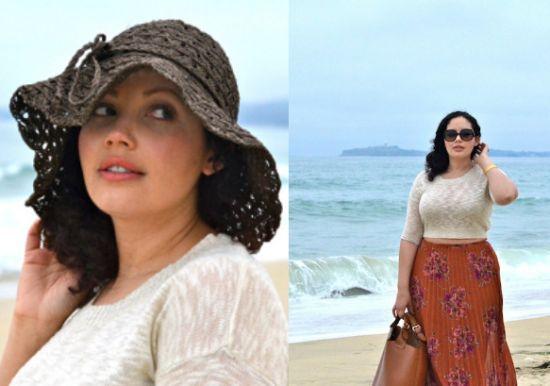 É possível mulheres gordinhas usar barriga de fora, basta adotar um look equilibrado (Foto: Divulgação)