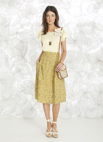 A tendência de moda das saias mimolet é fortíssima, porém exige um pouco de cuidado ao adotá-la (Foto: Divulgação)