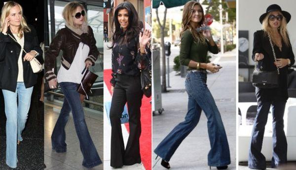 A moda das calças flare promete continuar ainda um bom tempo entre nós (Foto: Divulgação)