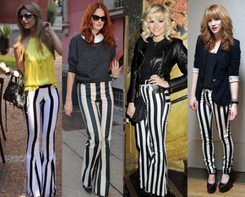 Atualmente usar a moda de calças listradas está mais fácil, pois as opções de combinações aumentarem e muito (Foto: Divulgação)