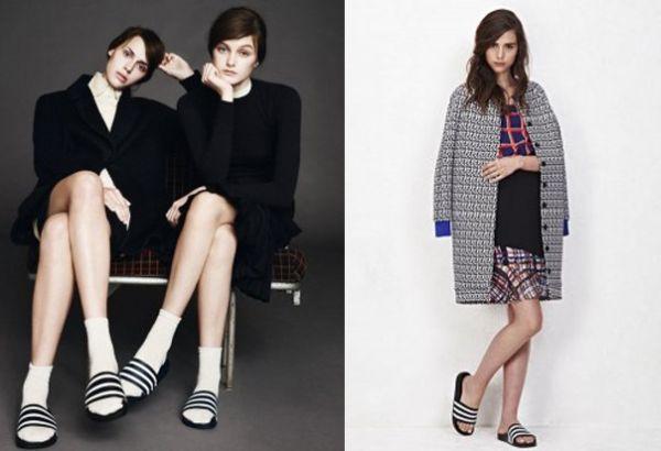 A tendência dos chinelos Adidas invadiu o universo fashion com muita força e está presente atualmente até nos looks mais arrumadinhos (Foto: Divulgação)