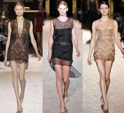 A transparência na moda verão 2014 aparece em praticamente todas as peças (Foto: Divulgação)