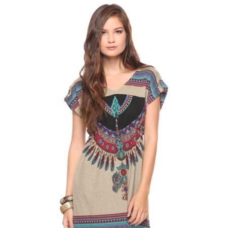 As tendências de moda verão 2014 trazem a estampa tribal como forte proposta (Foto: Divulgação)