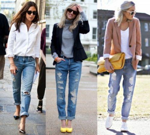 A moda destroyed jeans não é tão atual, porém pode ser repaginada se você investir em peças de estilos diferentes para usar junto (Foto: Divulgação)