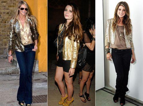 Você pode usar peças douradas no look tanto durante o dia quanto à noite (Foto: anossamoda.wordpress.com)