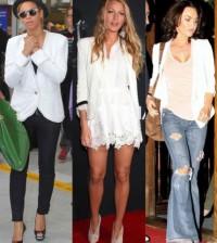 É muito fácil usar blazer branco escolha a sua maneira preferida (Foto: thebudgetbabe.com)